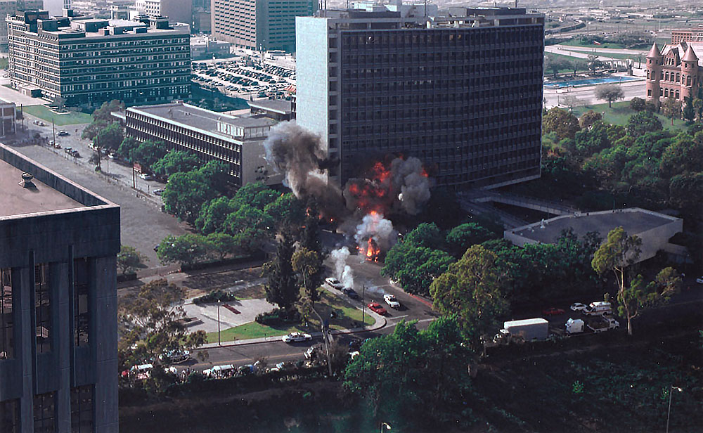 X-Files at LA Center Studios-Explosion