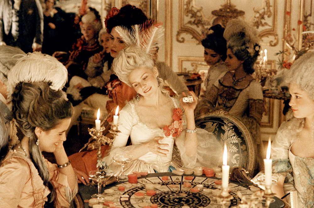 Detailed costume designs made 18th century France real in the film Marie Antoinette