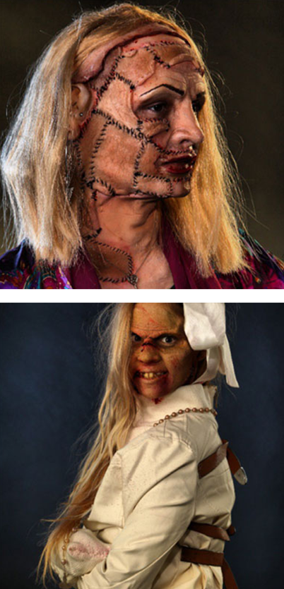 Scary character special effects