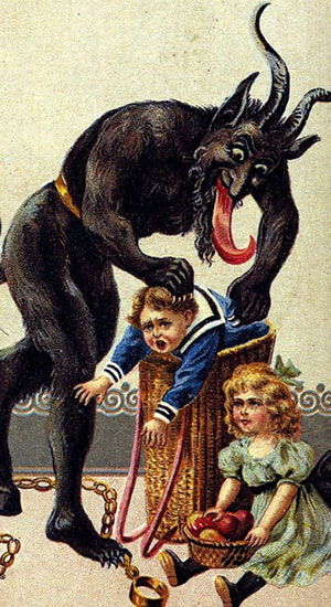 Krampus disappeared from pop culture in the 20th century